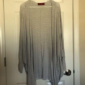 AKIRA striped batwing cardigan